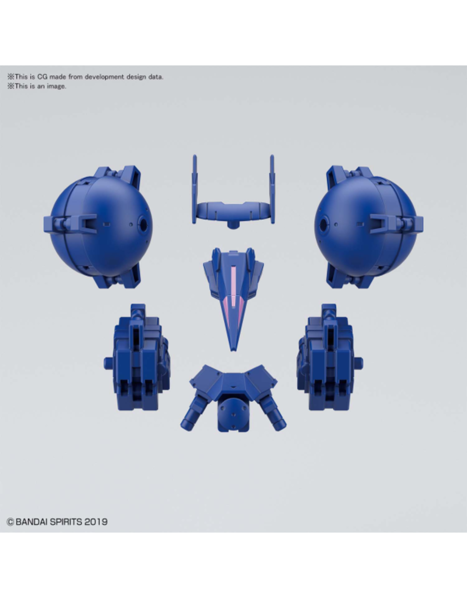 BANDAI 30MM 1/144 OPTION ARMOR FOR HIGH-MOBILITY [CIELNOVA EXCLUSIVE / BLUE]