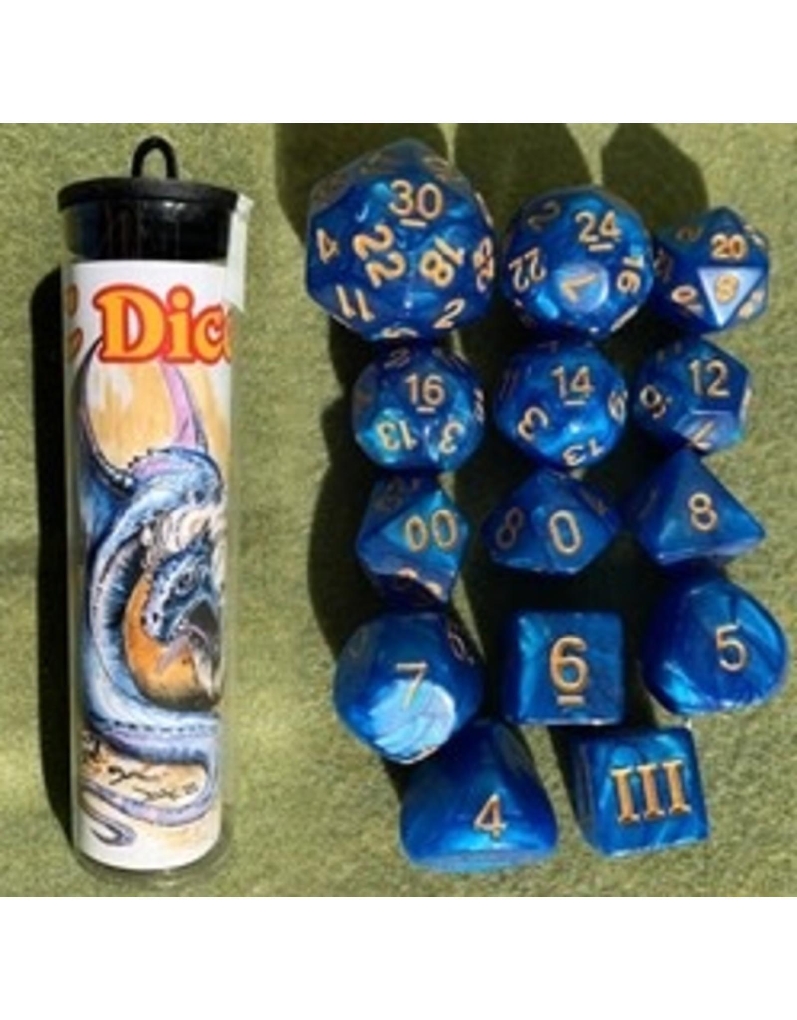 14PC DCC RPG DICE - MANED WYRM