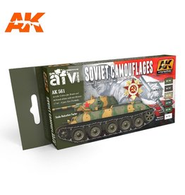 AK Interactive SOVIET CAMOUFLAGES COLORS SET