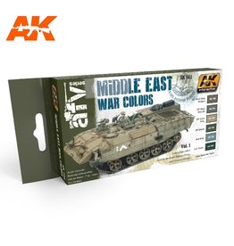 AK Interactive MIDDLE EAST WAR VOL. 1 COLORS SET