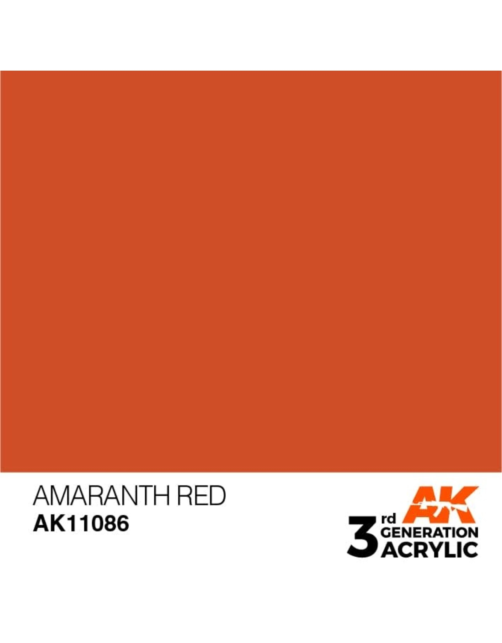 AK Interactive 3RD GEN ACRYLIC AMARANTH RED 17ML