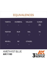 AK Interactive 3RD GEN ACRYLIC AMETHYST BLUE 17ML