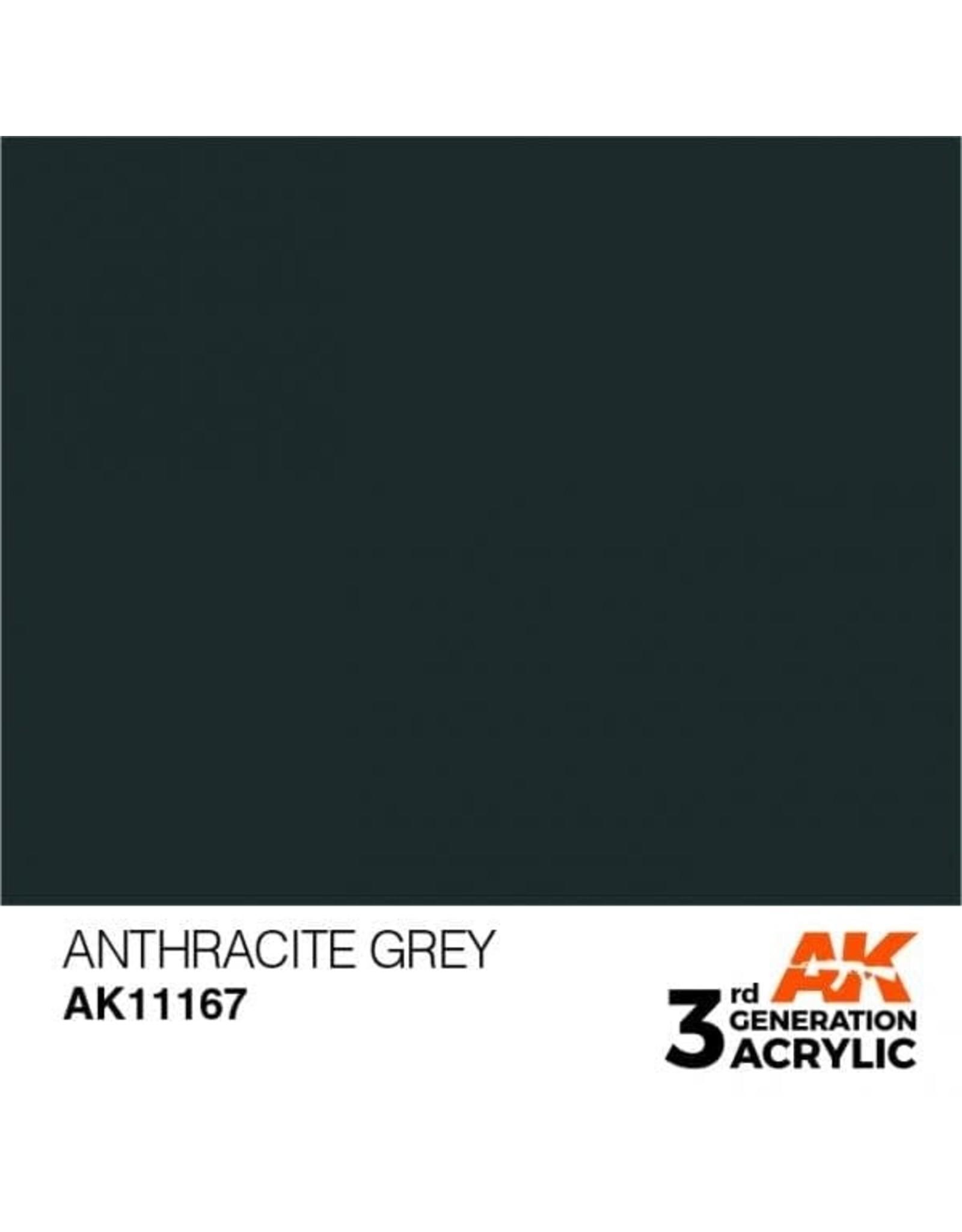 AK Interactive 3RD GEN ACRYLIC ANTHRACITE GREY 17ML