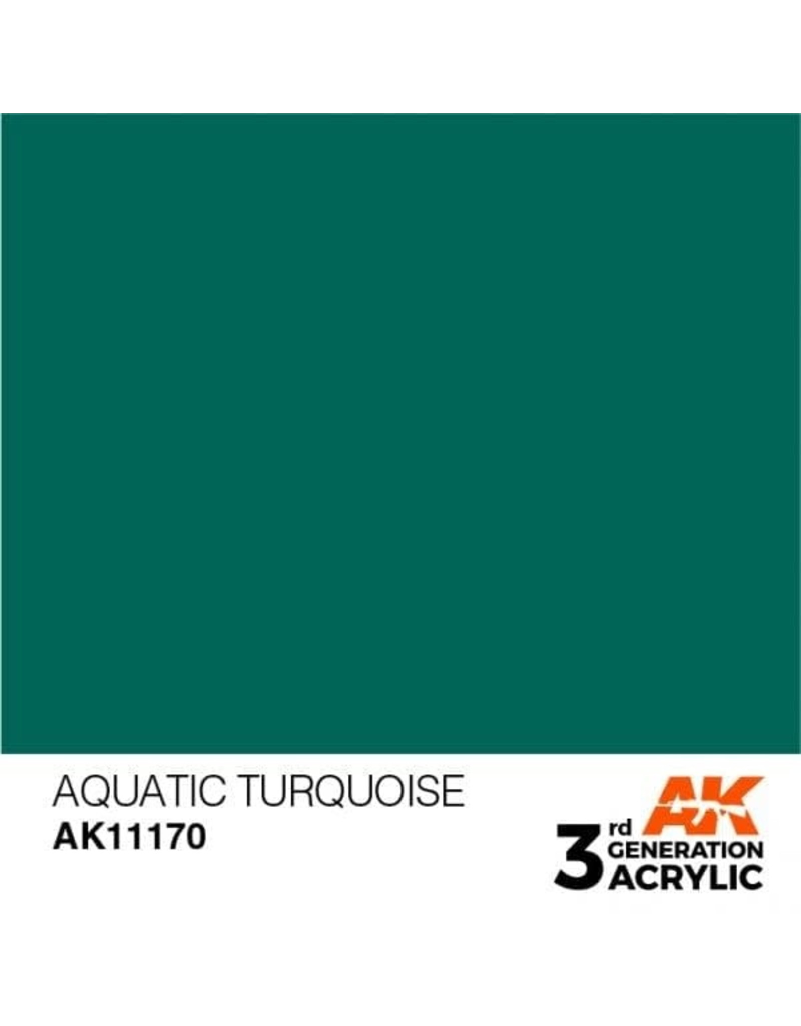 AK Interactive 3RD GEN ACRYLIC AQUATIC TURQOISE 17ML