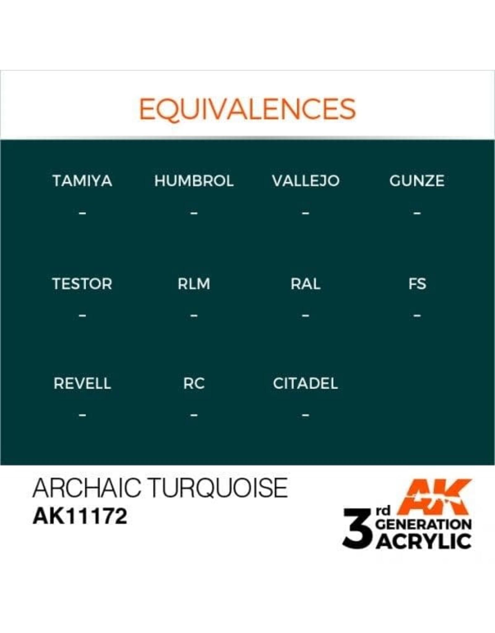 AK Interactive 3RD GEN ACRYLIC ARCHAIC TURQUOISE 17ML