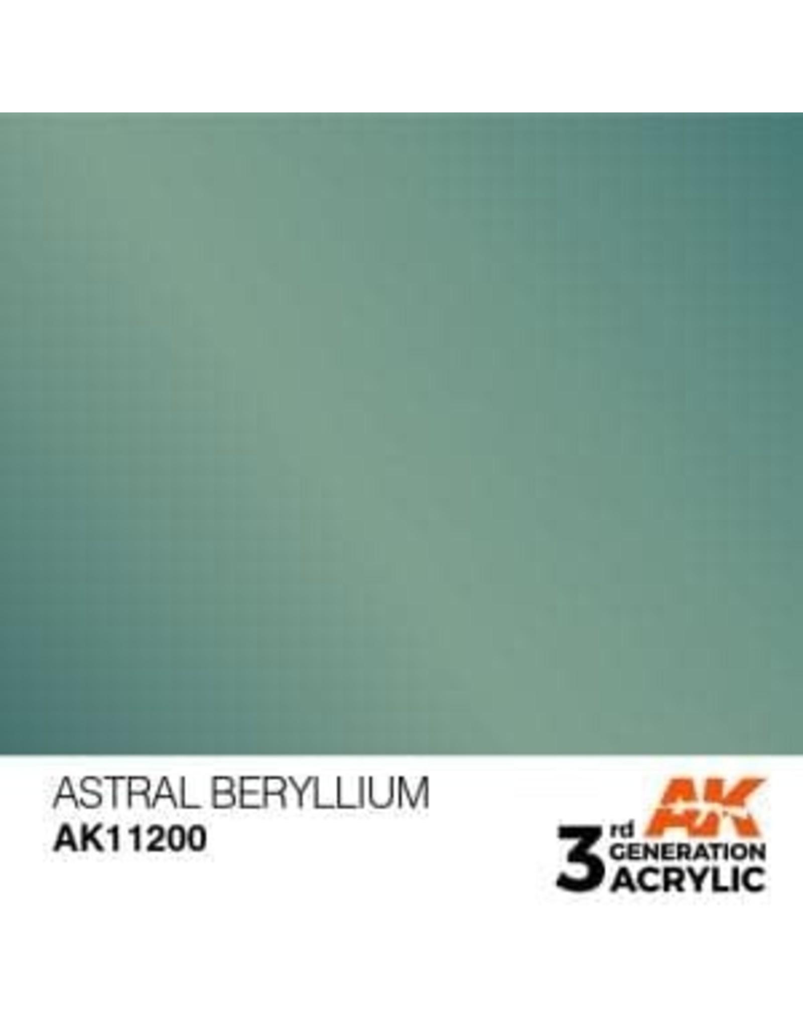 AK Interactive 3RD GEN ACRYLIC ASTRAL BERYLLIUM 17ML