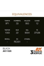 AK Interactive 3RD GEN ACRYLIC BLACK 17ML