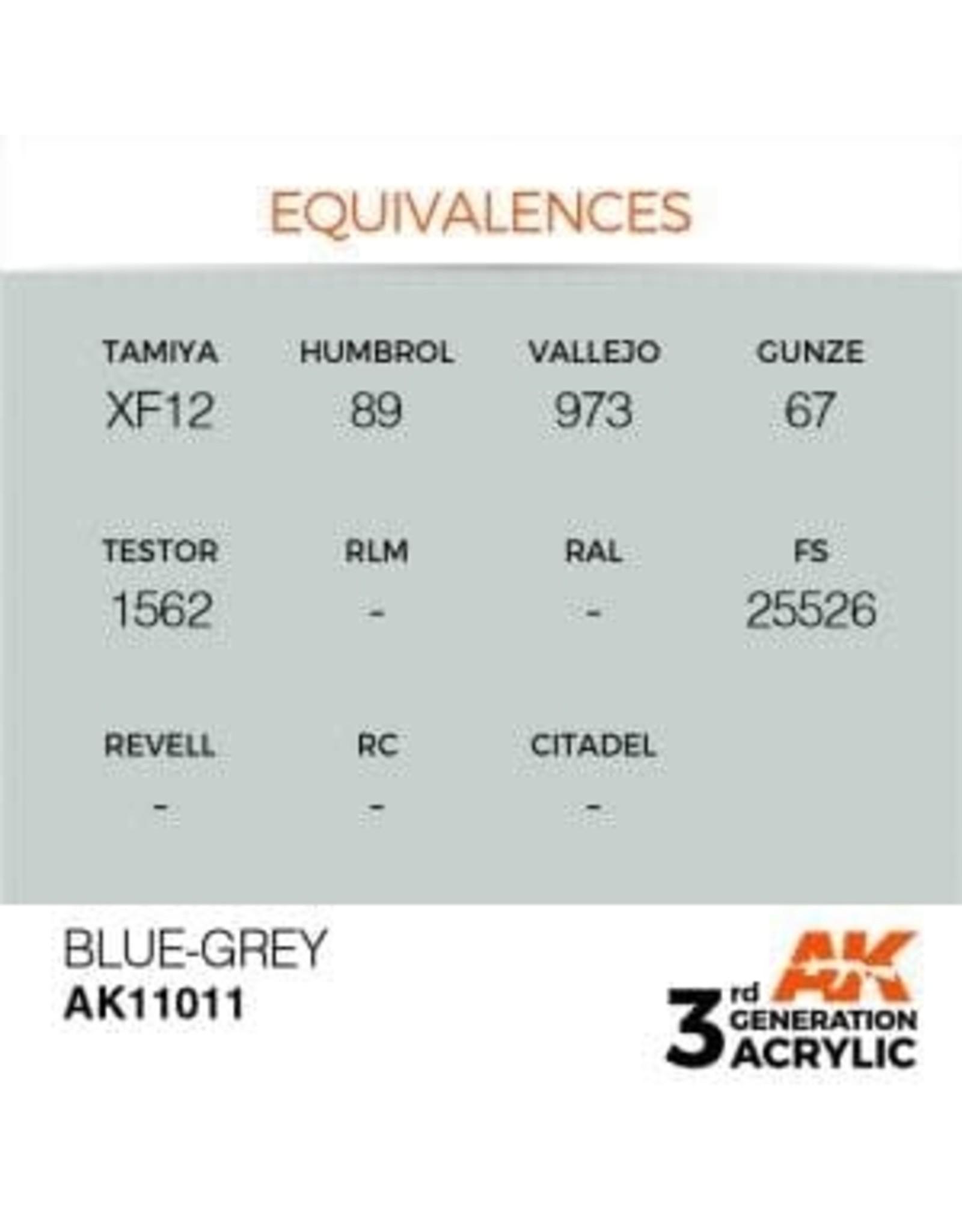 AK Interactive 3RD GEN ACRYLIC BLUE GREY 17ML