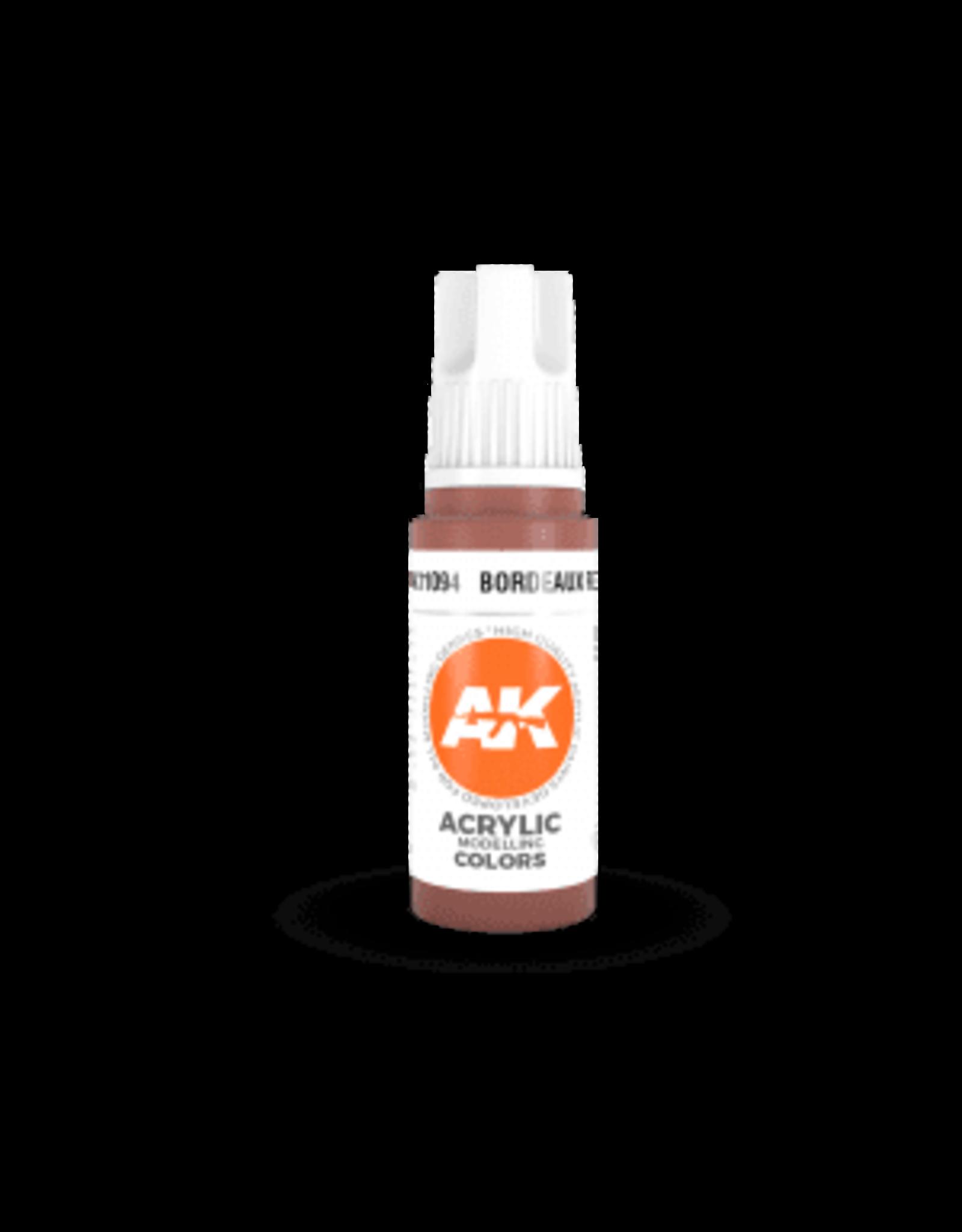 AK Interactive 3RD GEN ACRYLIC BORDEAUX RED 17ML