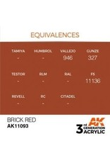 AK Interactive 3RD GEN ACRYLIC BRICK RED 17ML