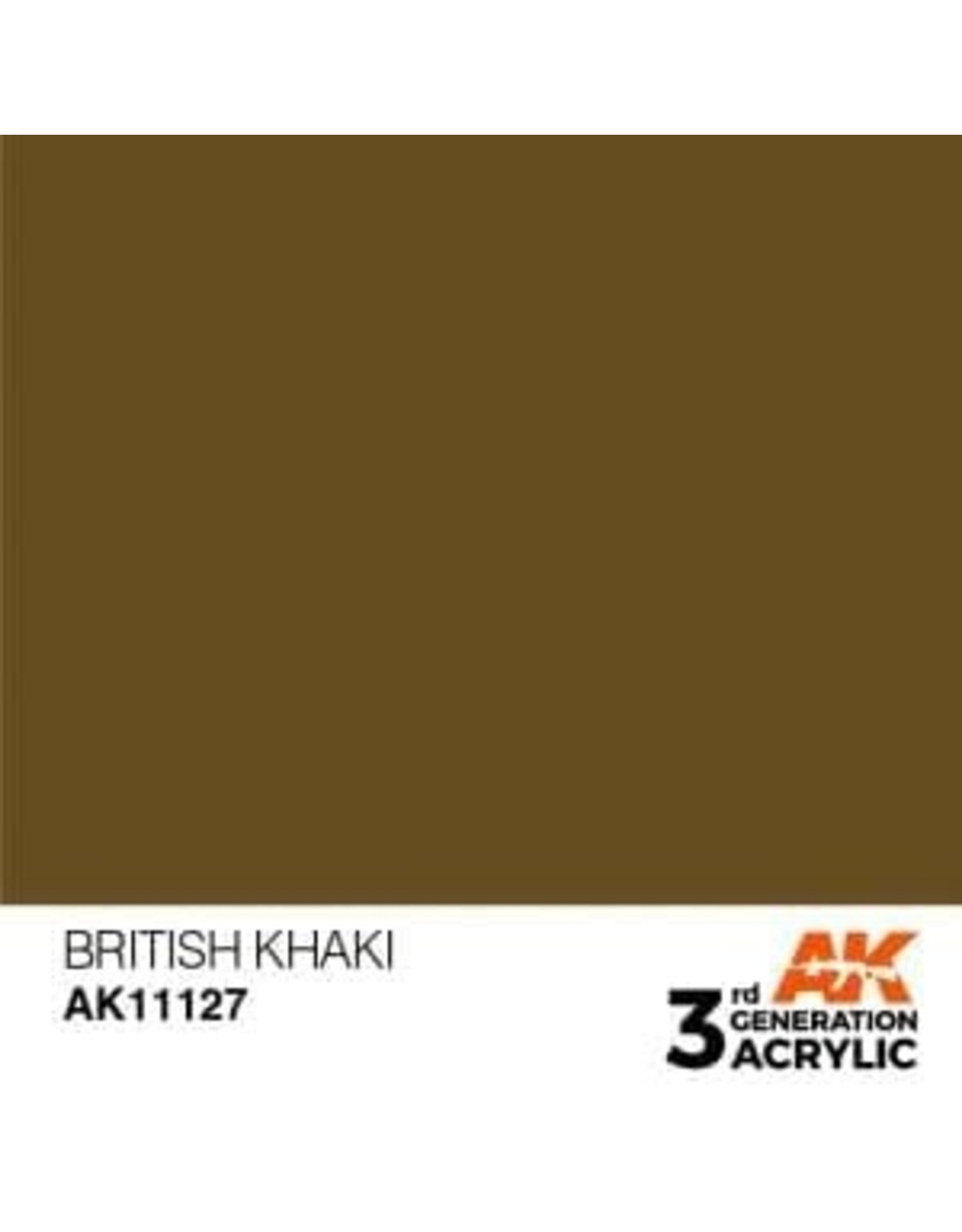 AK Interactive 3RD GEN ACRYLIC BRITISH KHAKI 17ML