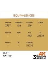 AK Interactive 3RD GEN ACRYLIC BUFF 17ML