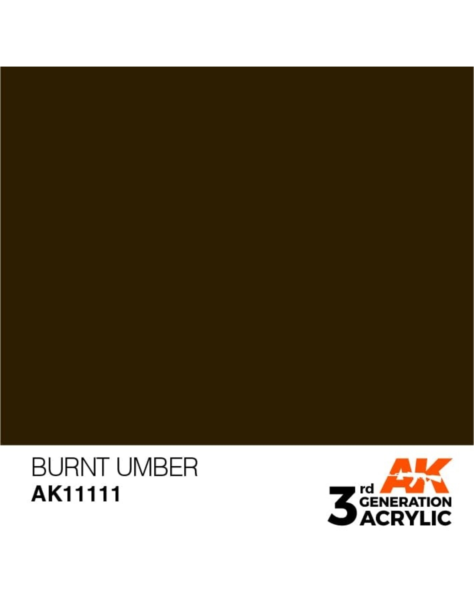 AK Interactive 3RD GEN ACRYLIC BURNT UMBER STANDARD 17ML