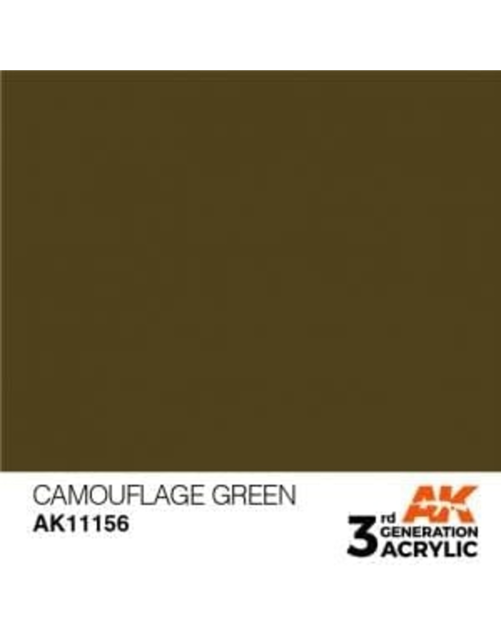 AK Interactive 3RD GEN ACRYLIC CAMOUFLAGE GREEN 17ML