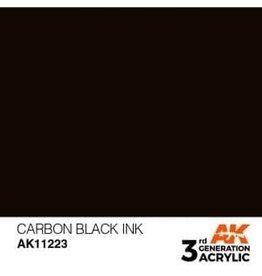 AK Interactive 3RD GEN ACRYLIC CARBON BLACK INK 17ML