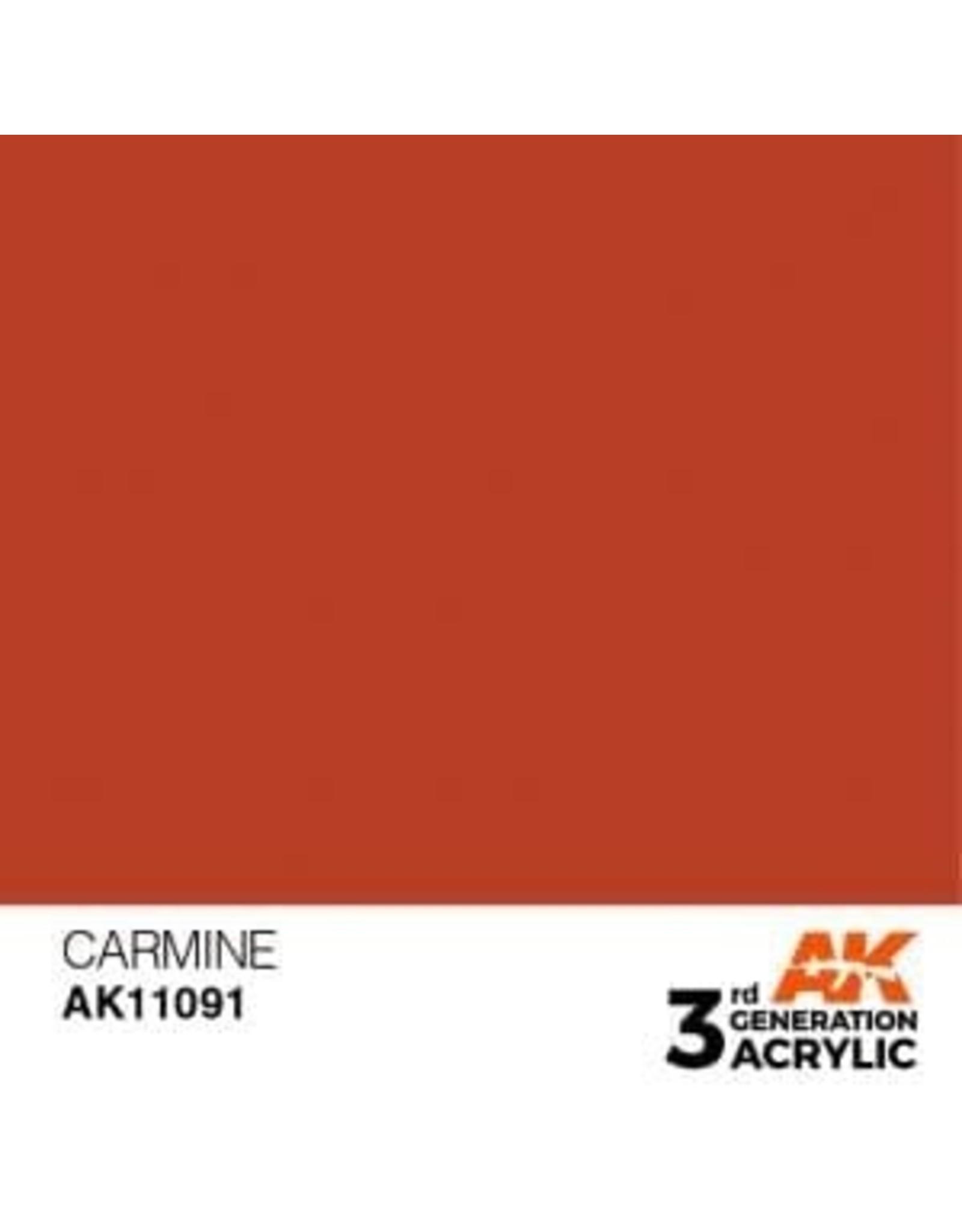 AK Interactive 3RD GEN ACRYLIC CARMINE 17ML