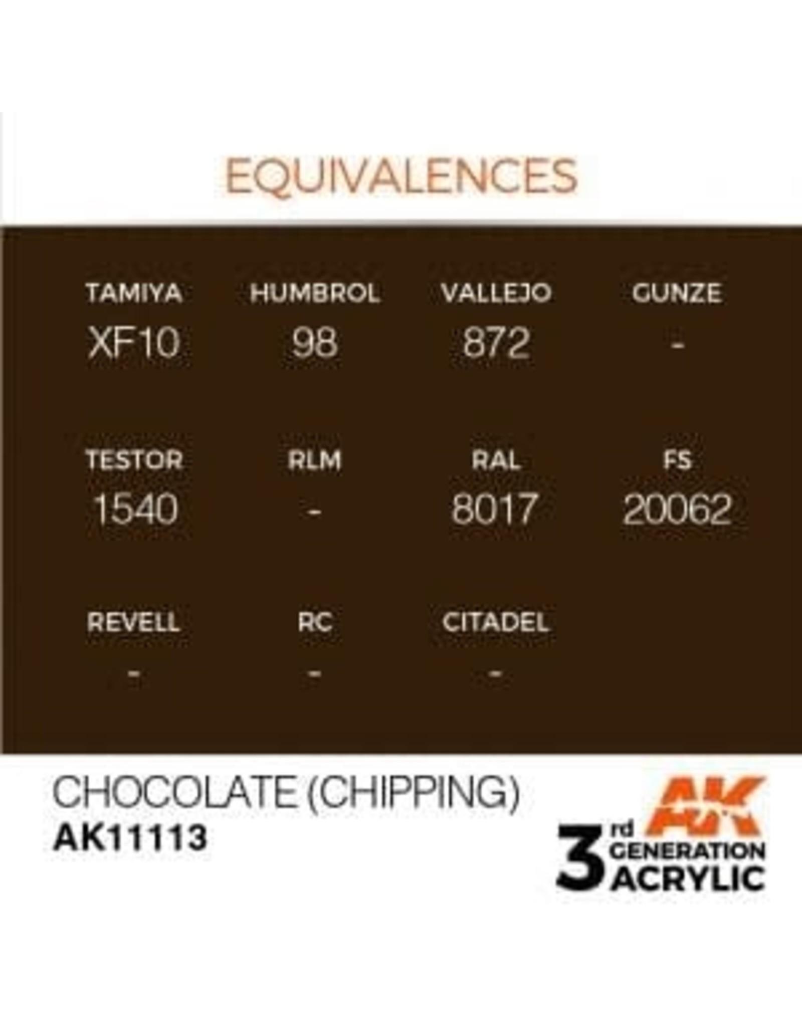 AK Interactive 3RD GEN ACRYLIC CHOCOLATE 17ML