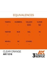 AK Interactive 3RD GEN ACRYLIC CLEAR ORANGE 17ML