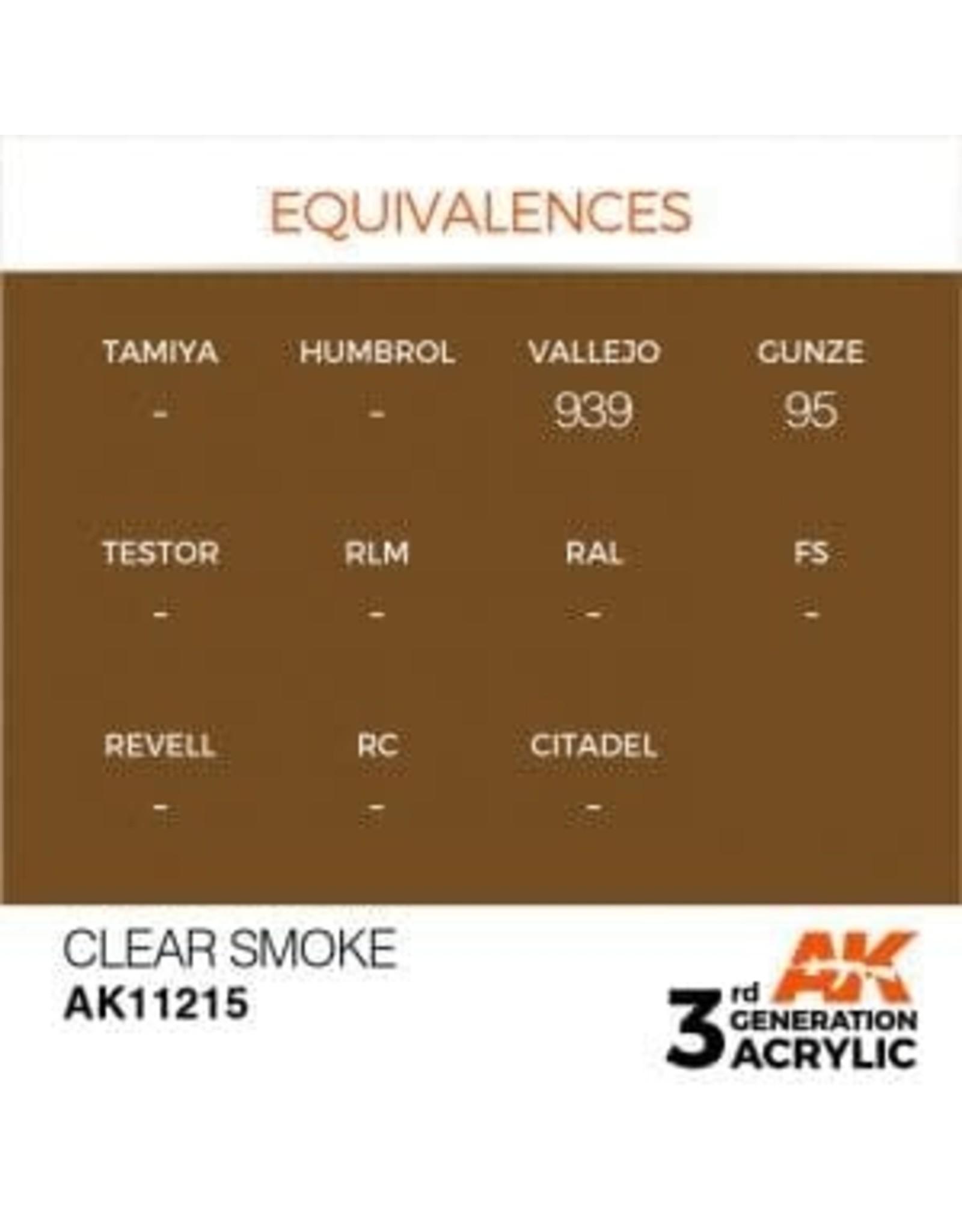 AK Interactive 3RD GEN ACRYLIC CLEAR SMOKE 17ML