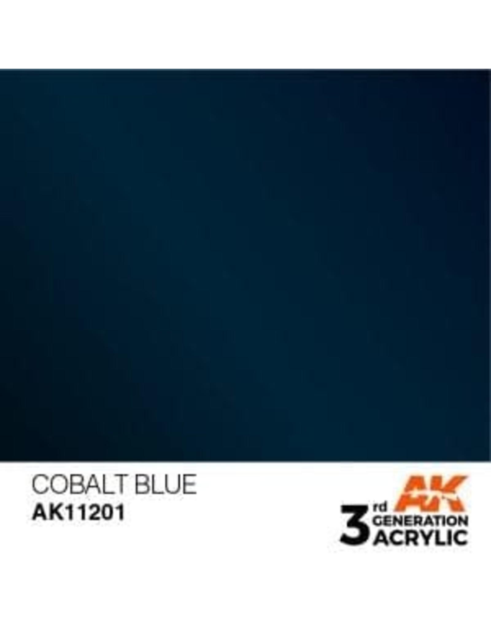 AK Interactive 3RD GEN ACRYLIC COBALT BLUE 17ML