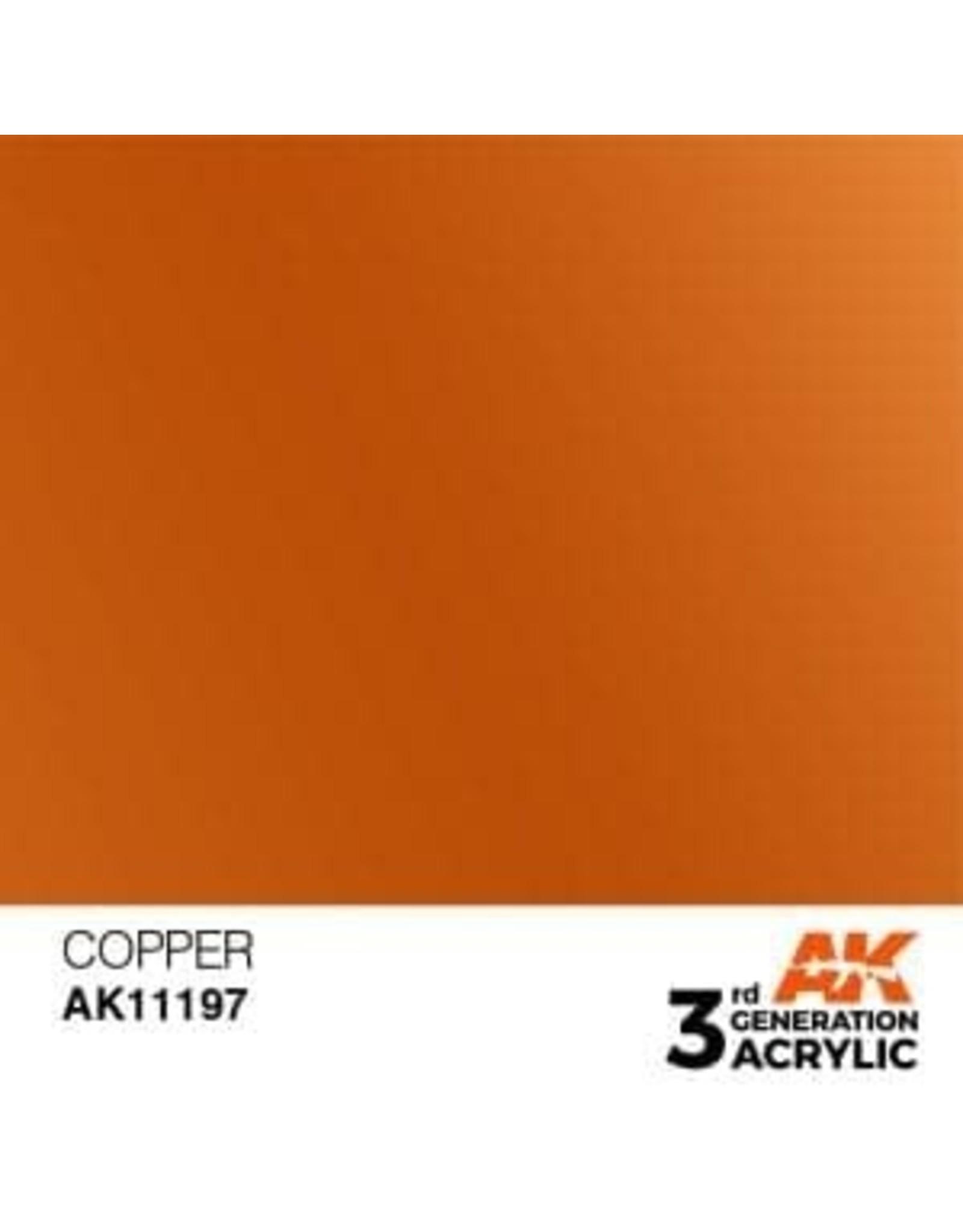 AK Interactive 3RD GEN ACRYLIC COPPER 17ML