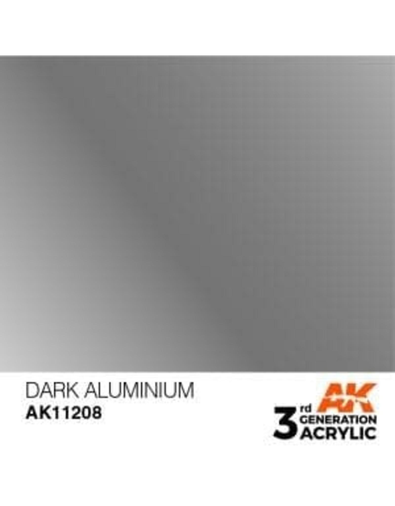 AK Interactive 3RD GEN ACRYLIC DARK ALUMINIUM 17ML