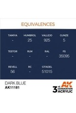 AK Interactive 3RD GEN ACRYLIC DARK BLUE 17ML
