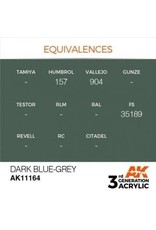 AK Interactive 3RD GEN ACRYLIC DARK BLUE-GREY 17ML