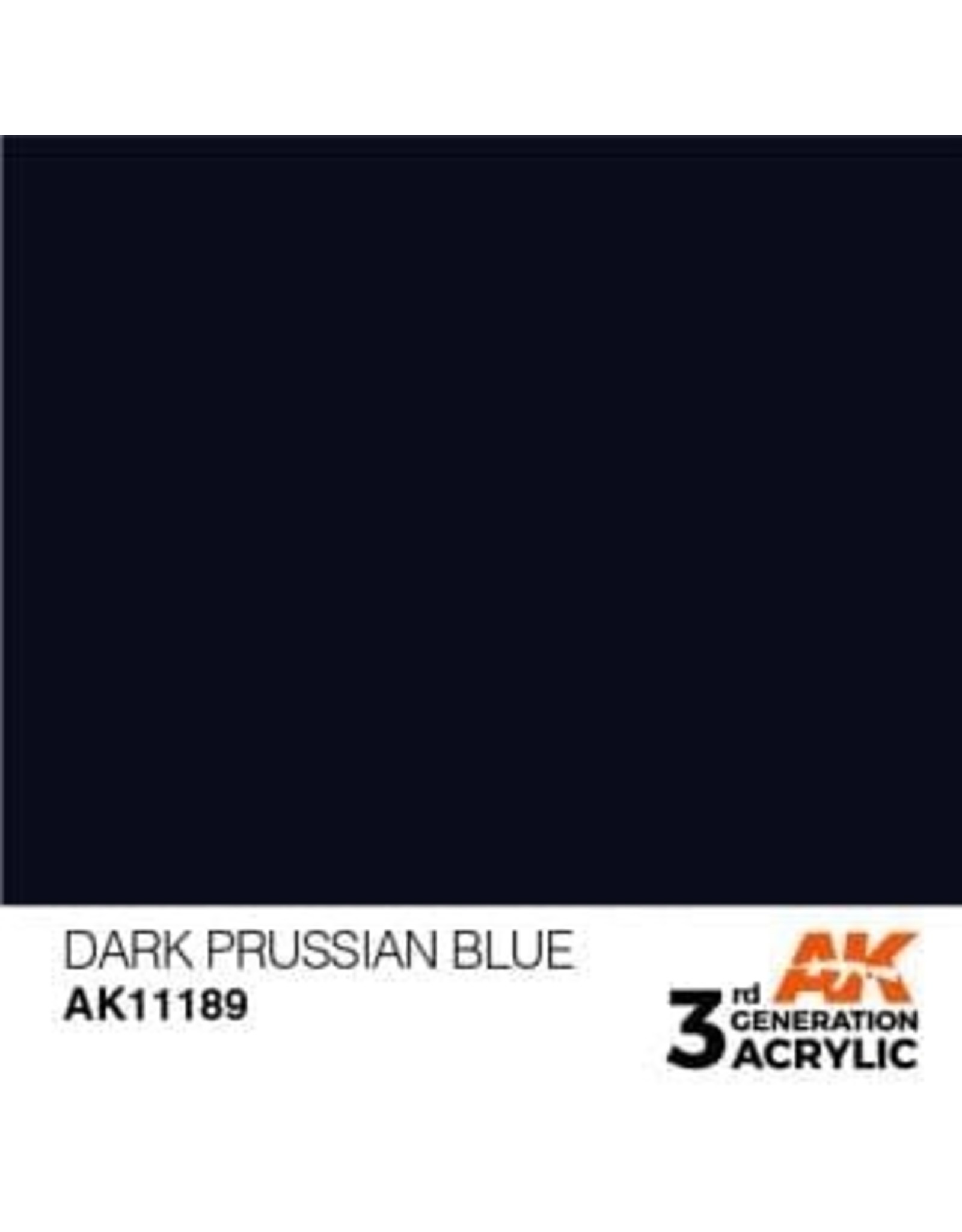 AK Interactive 3RD GEN ACRYLIC DARK PRUSSIAN BLUE 17ML