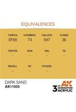 AK Interactive 3RD GEN ACRYLIC DARK SAND 17ML