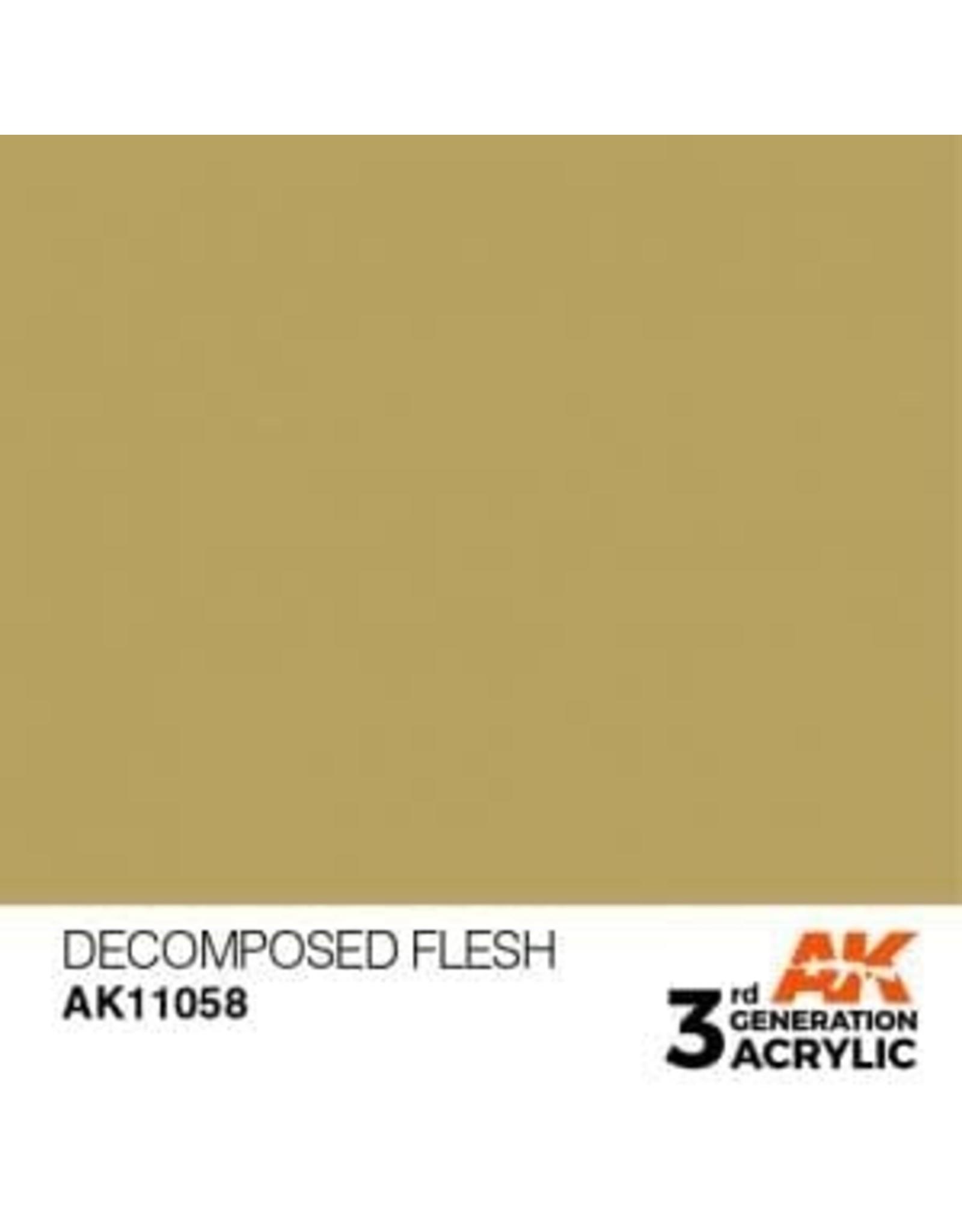 AK Interactive 3RD GEN ACRYLIC DECOMPOSED FLESH 17ML