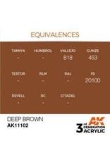 AK Interactive 3RD GEN ACRYLIC DEEP BROWN 17ML