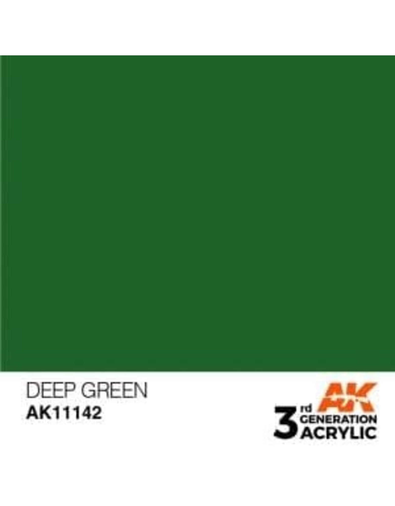 AK Interactive 3RD GEN ACRYLIC DEEP GREEN 17ML