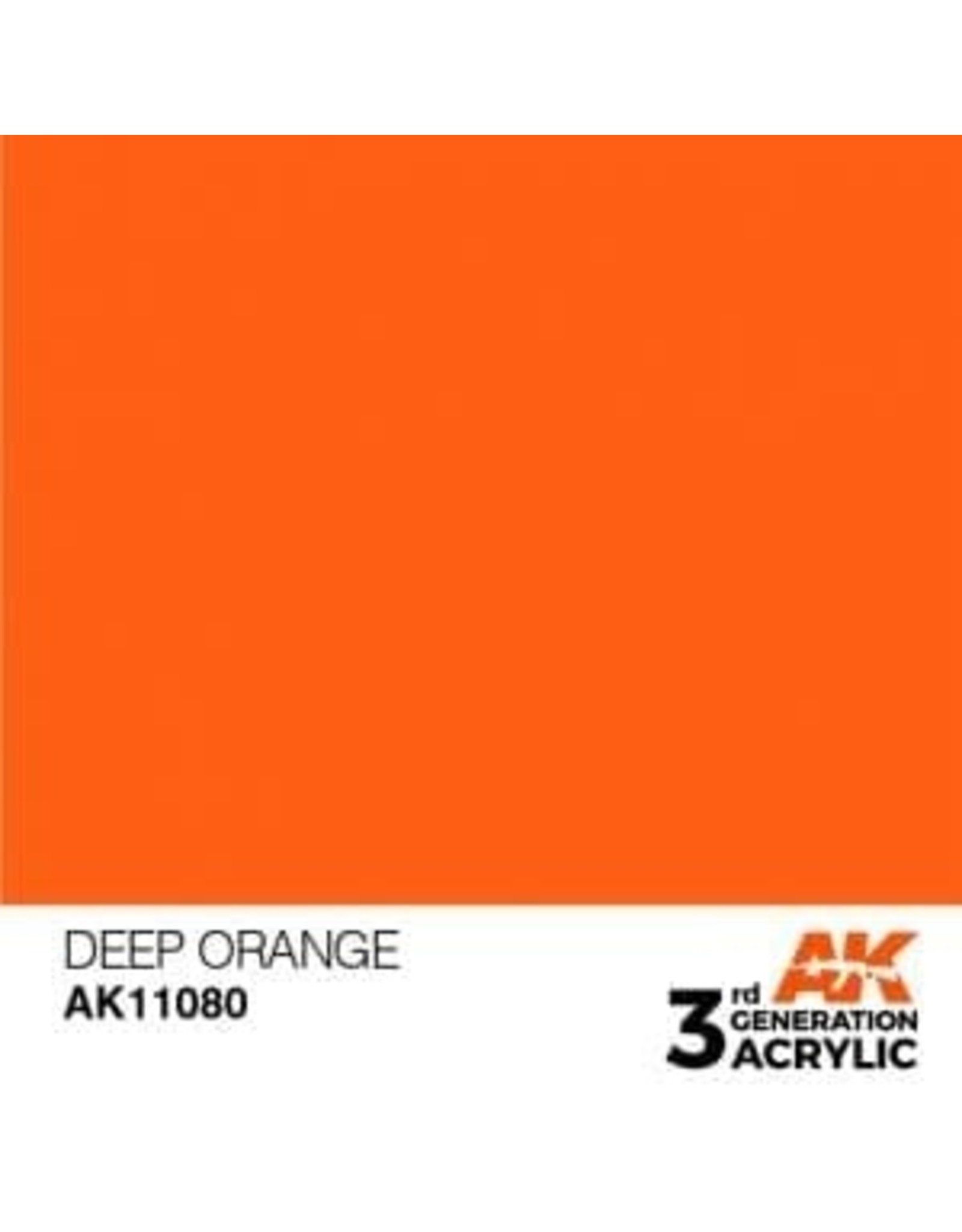 AK Interactive 3RD GEN ACRYLIC DEEP ORANGE 17ML
