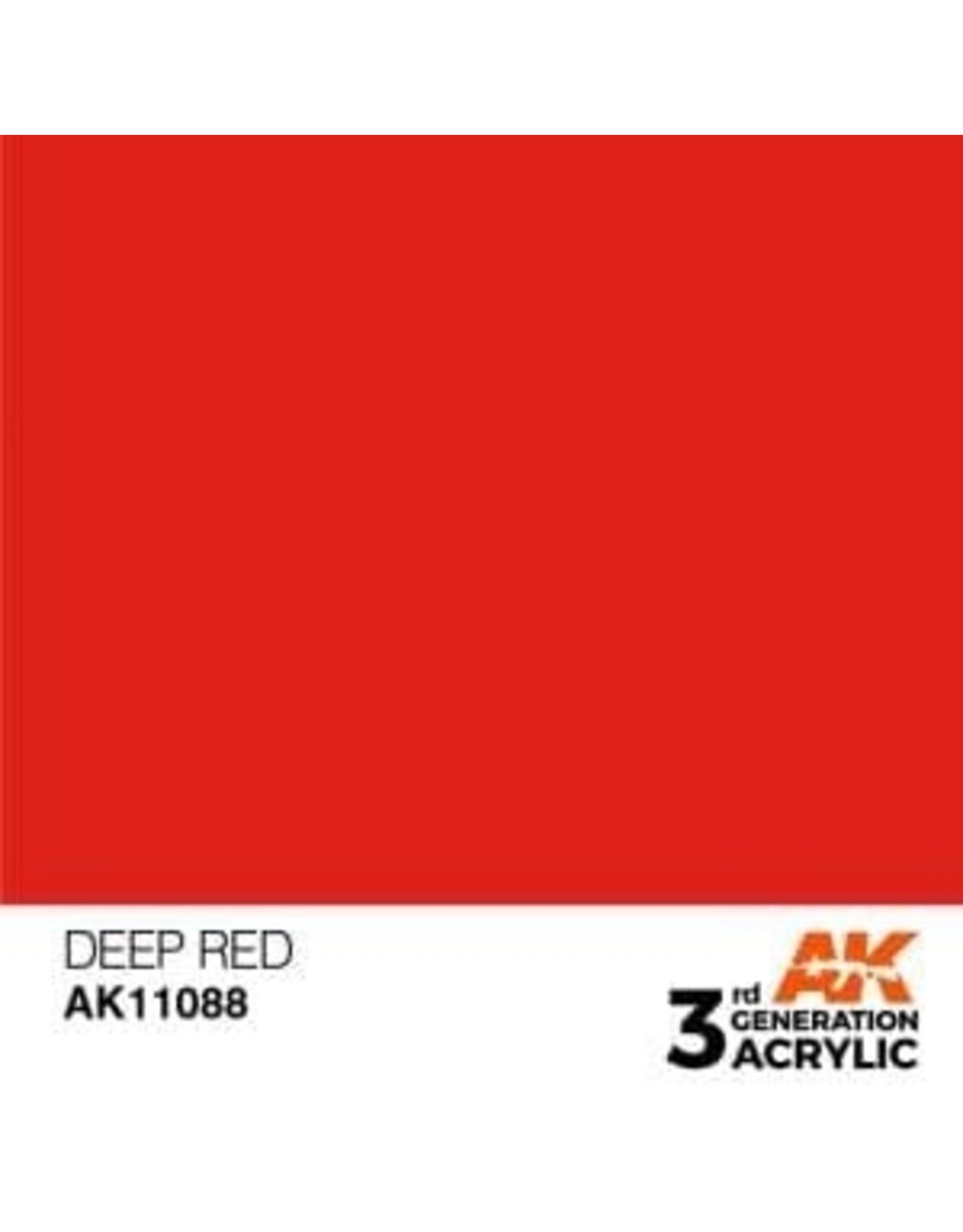 AK Interactive 3RD GEN ACRYLIC DEEP RED 17ML
