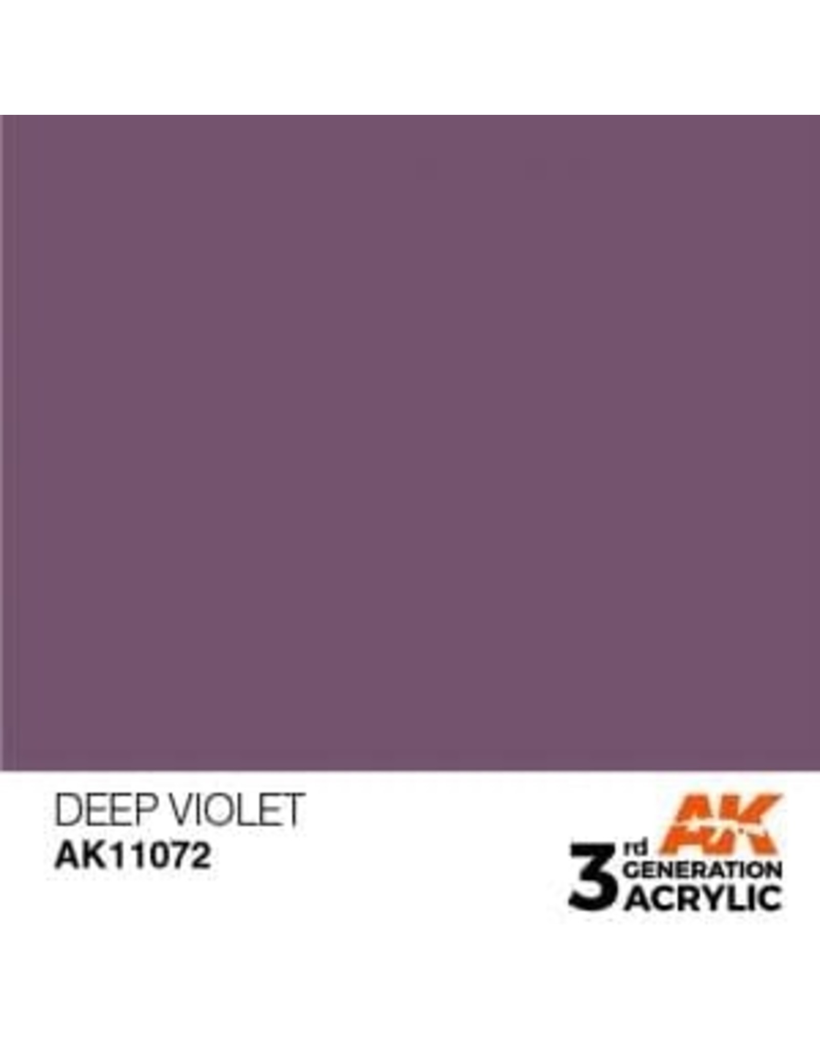 AK Interactive 3RD GEN ACRYLIC DEEP VIOLET 17ML