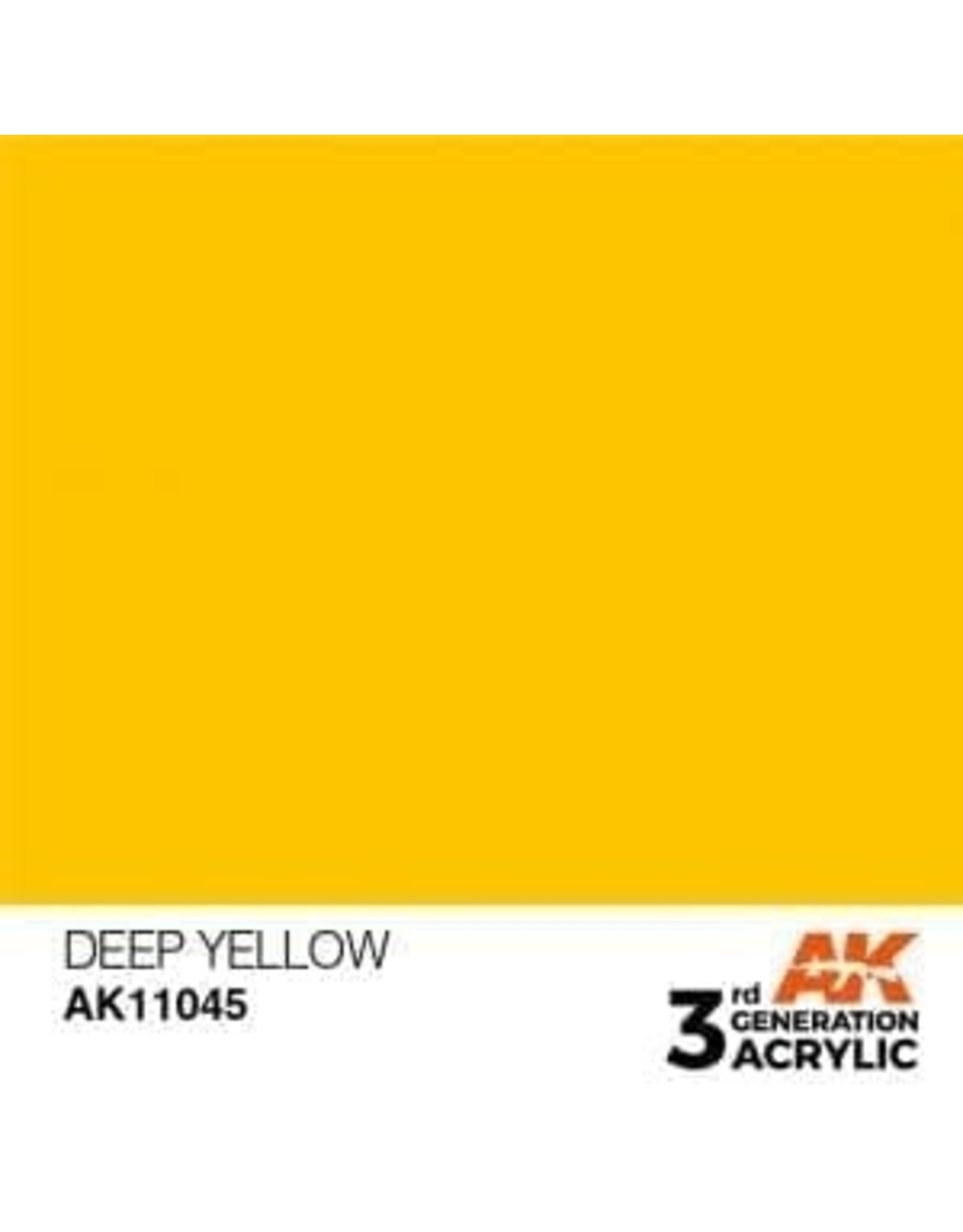 AK Interactive 3RD GEN ACRYLIC DEEP YELLOW 17ML