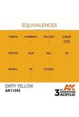 AK Interactive 3RD GEN ACRYLIC DIRTY YELLOW 17ML