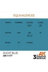 AK Interactive 3RD GEN ACRYLIC DUCAT BLUE 17ML