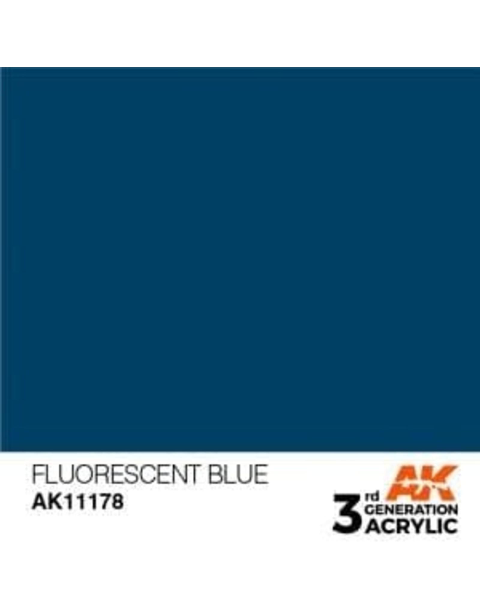 AK Interactive 3RD GEN ACRYLIC FLUORESCENT BLUE 17ML