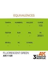 AK Interactive 3RD GEN ACRYLIC FLUORESCENT GREEN 17ML