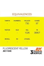 AK Interactive 3RD GEN ACRYLIC FLUORESCENT YELLOW 17ML