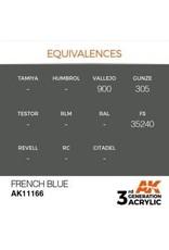 AK Interactive 3RD GEN ACRYLIC FRENCH BLUE 17ML
