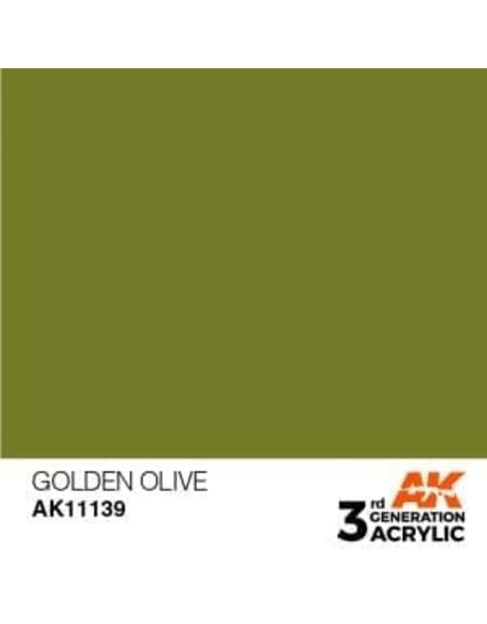 AK Interactive 3RD GEN ACRYLIC GOLDEN OLIVE 17ML