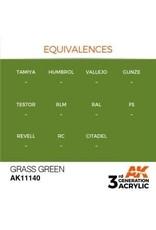 AK Interactive 3RD GEN ACRYLIC GRASS GREEN 17ML