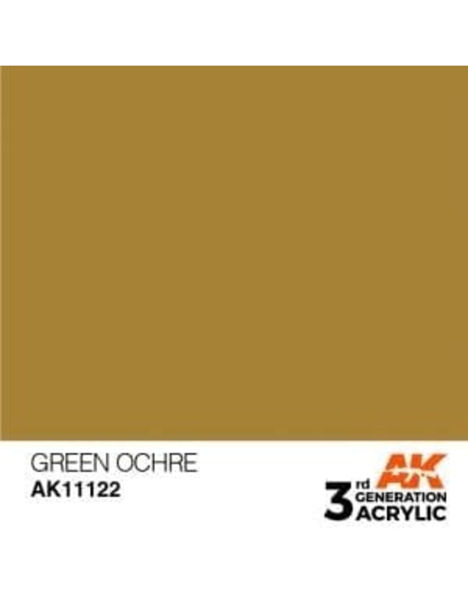 AK Interactive 3RD GEN ACRYLIC GREEN OCHER 17ML