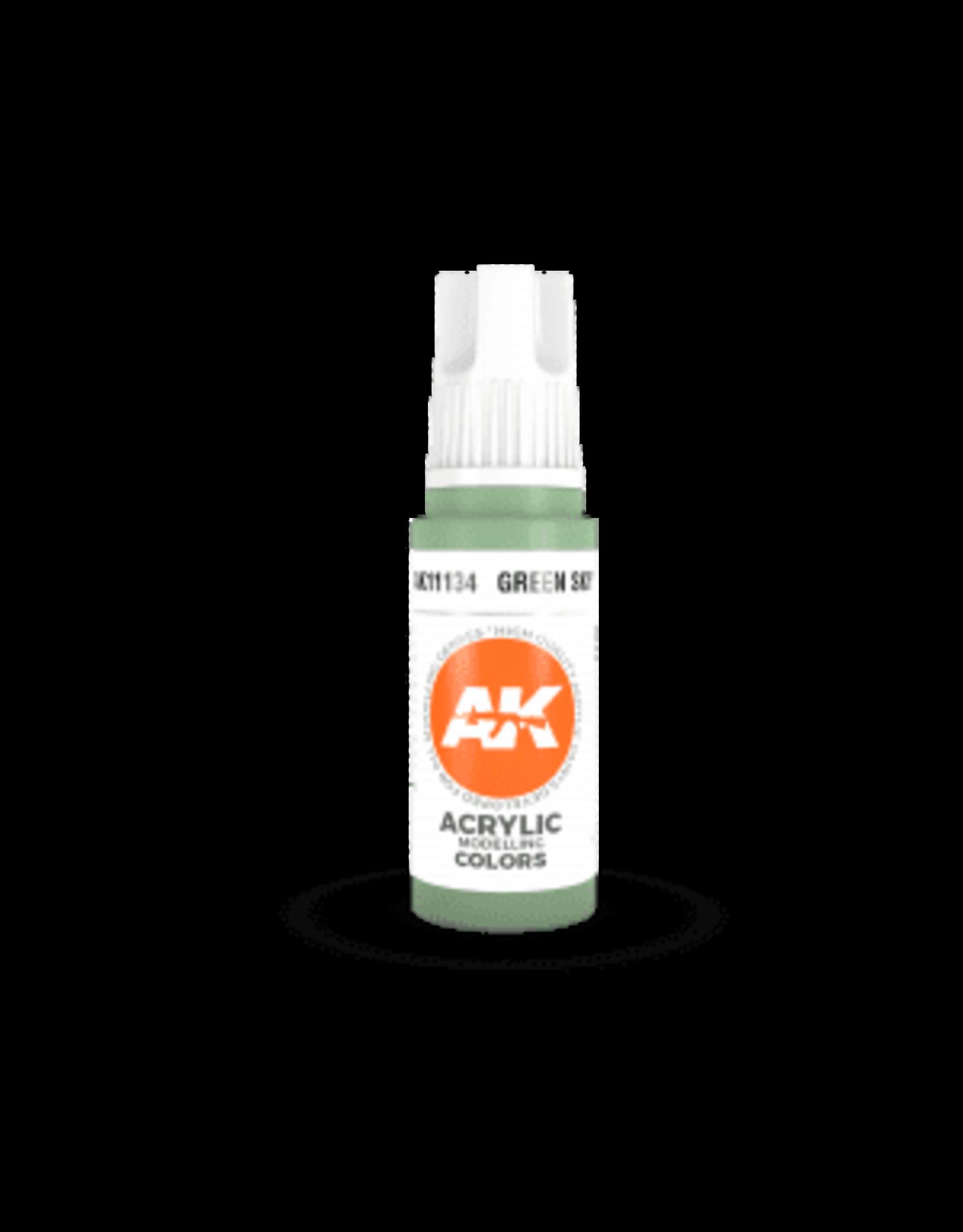 AK Interactive 3RD GEN ACRYLIC GREEN SKY 17ML