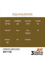 AK Interactive 3RD GEN ACRYLIC GREEN-BROWN 17ML