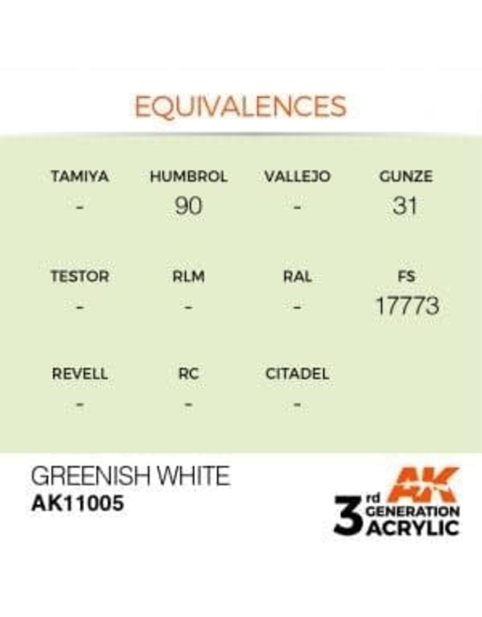 AK Interactive 3RD GEN ACRYLIC GREENISH WHITE 17ML