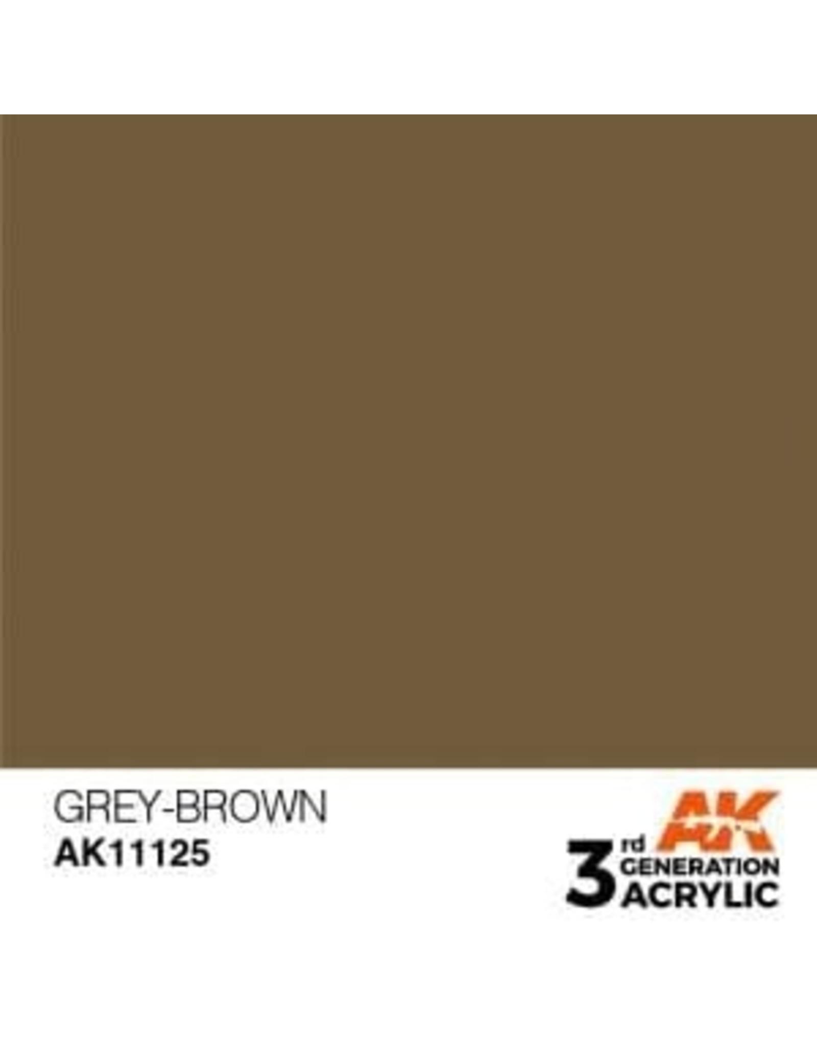 AK Interactive 3RD GEN ACRYLIC GREY-BROWN 17ML